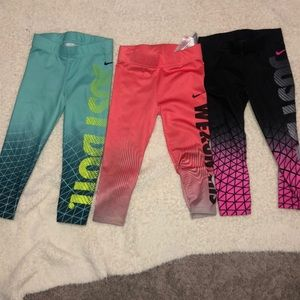 3T Nike Dri-Fit Tights Lot